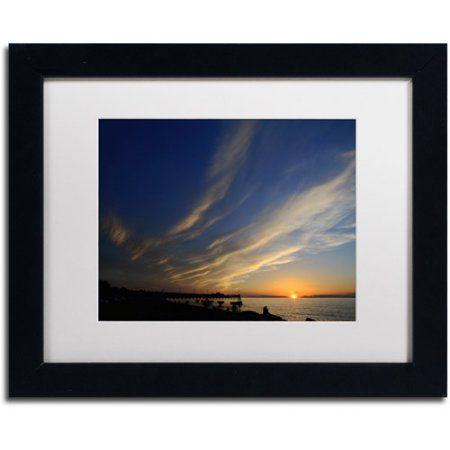 Trademark Fine Art Sweeping Sunset Canvas Art by Kurt Shaffer White Matte, Black Frame, Size: 16 x 20, Multicolor