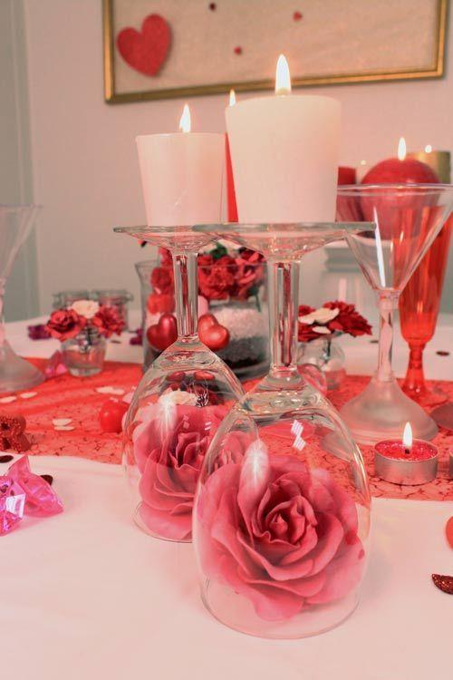 Valentines Day Gift Ideas Pinwire Decora La Tavola Per Una Cena Romantica Birth Valentine Centerpieces Valentines Day Decorations Romantic Dinner Decoration