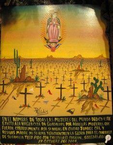 Retablo for the murdered women of Juarez