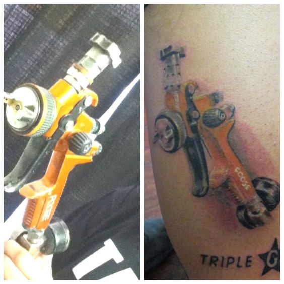 spray gun tattoo ideas pinterest sprays and guns. Black Bedroom Furniture Sets. Home Design Ideas