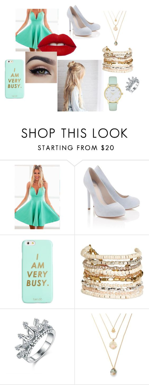 """Jantar na casa dos pais do nath"" by lili-monson on Polyvore featuring moda, Lipsy, ban.do, Panacea e Kate Spade"