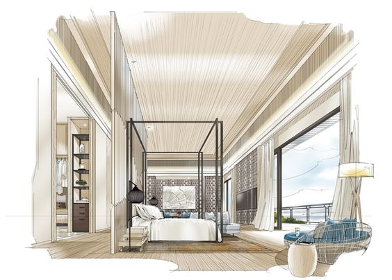 sketch drawing interior design interior concept sketches interior
