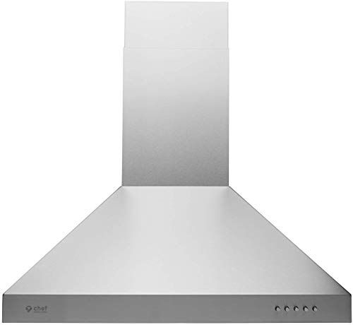New Hauslane Chef Series Range Hood 30 Wm 530ss 30p European Style Series 3 Speed Stainless Steel Wall Mount Strong Suction Button Control Steel Baf In 2020 Steel Wall Range Hood Ductless