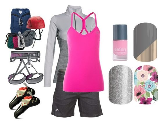 """""""Work it in style - Jamberry Nails"""" by kspantonjamon on Polyvore featuring Epperson Mountaineering, Under Armour, R44 Rogan Standard Issue, Lorna Jane, prAna, BillyTheTree and Mammut"""