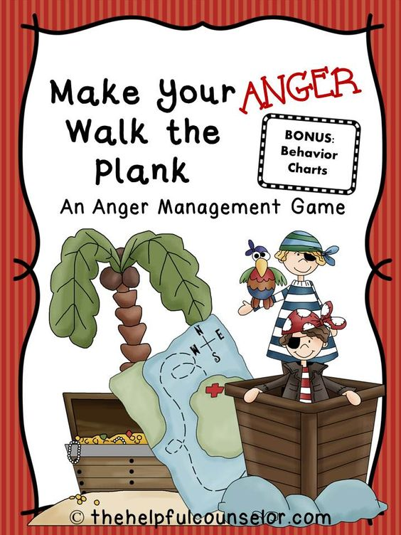 Make Your Anger Walk the Plank: An Anger Management Game & Free Behavior Chart | The Helpful Counselor: