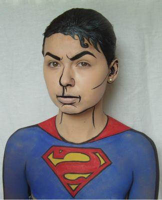 la reine's blog: Make-Up für Superman Kostüm