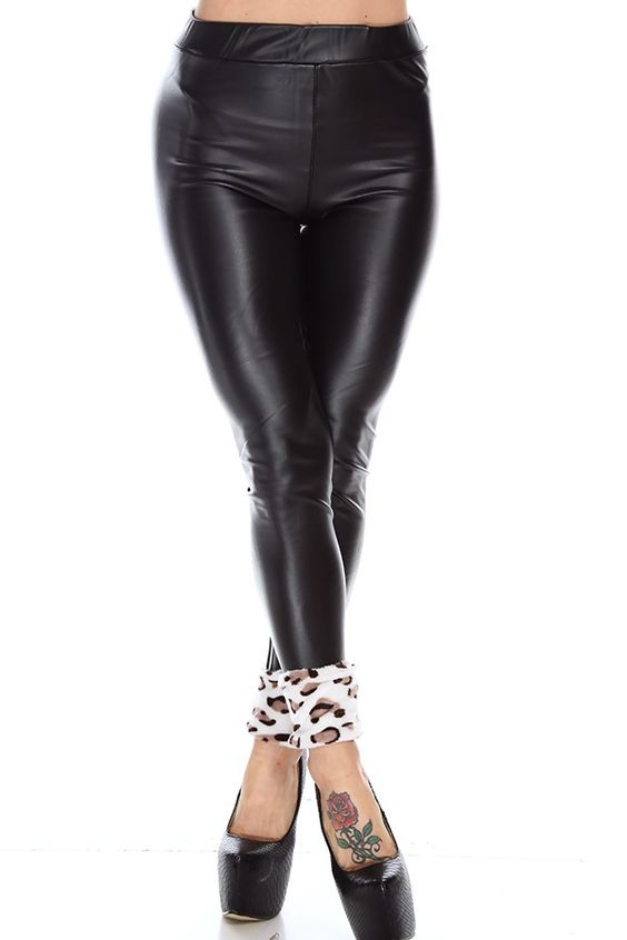 black leggings#faux leather leggings#black leather leggings#high ...