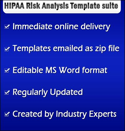 HIPAA Security risk analysis templates availble at http\/\/www - security risk assessment template