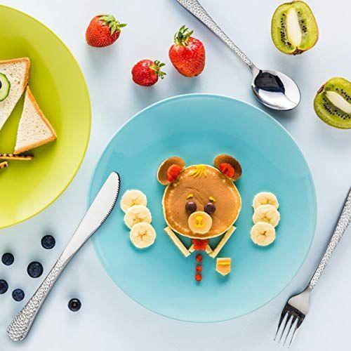 HaWare 9-Piece Stainless Steel Preschooler Utensils Kids Toddler Silverware Set