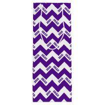 2016 Grad Chevron-Purple-White-WINE GIFT BAG #2016grad #chevron #purple #giftbags #wine