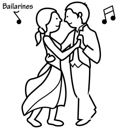 Ninos Bailando Dibujo Para Colorear Imagui Bailar Dibujo
