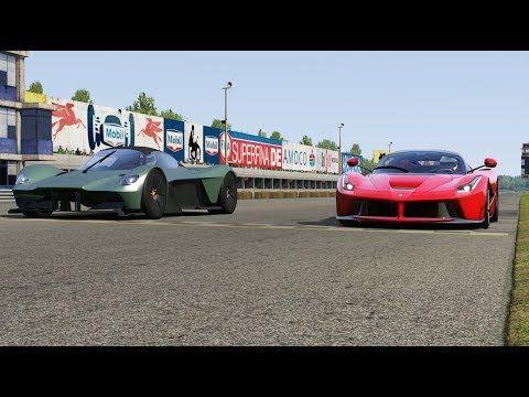 Aston Martin Valkyrie Vs Ferrari Laferrari At Monza Full Course