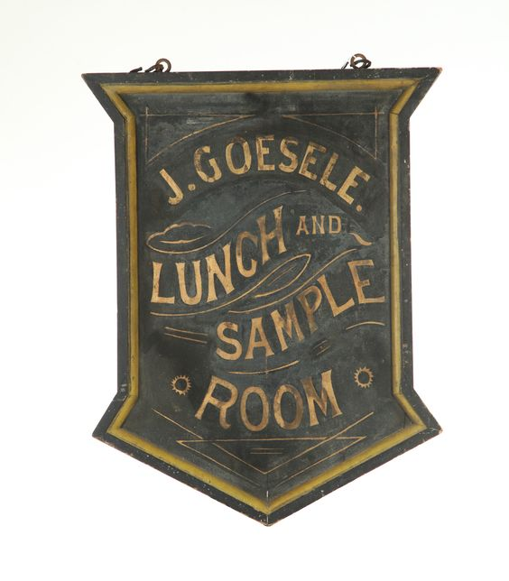 ADVERTISING SIGN.   Maine, late 19th-early 20th century