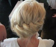 Ah, I wish my hair was this thick to do this for a wedding or formal event
