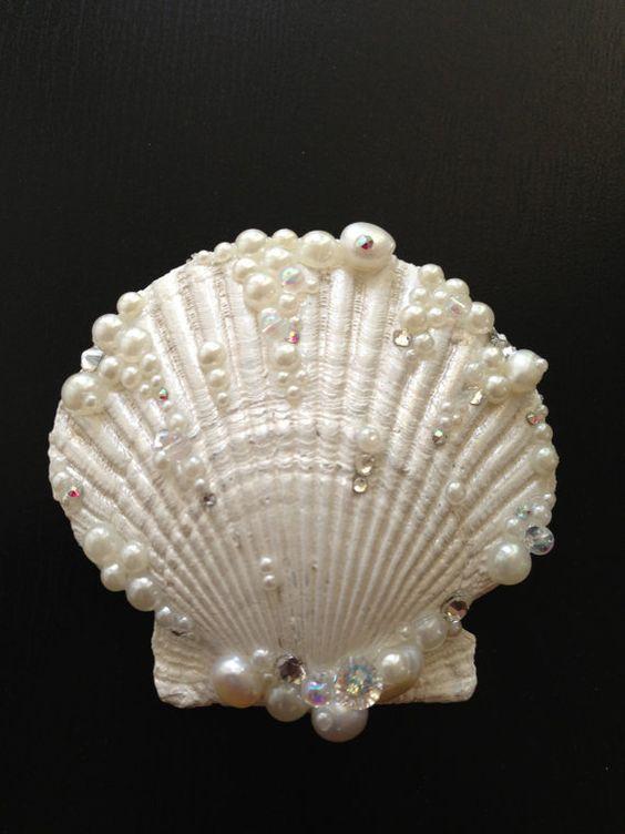 Pink pearl seashell hair clip hair clips seashells and hair for Seashells for hair
