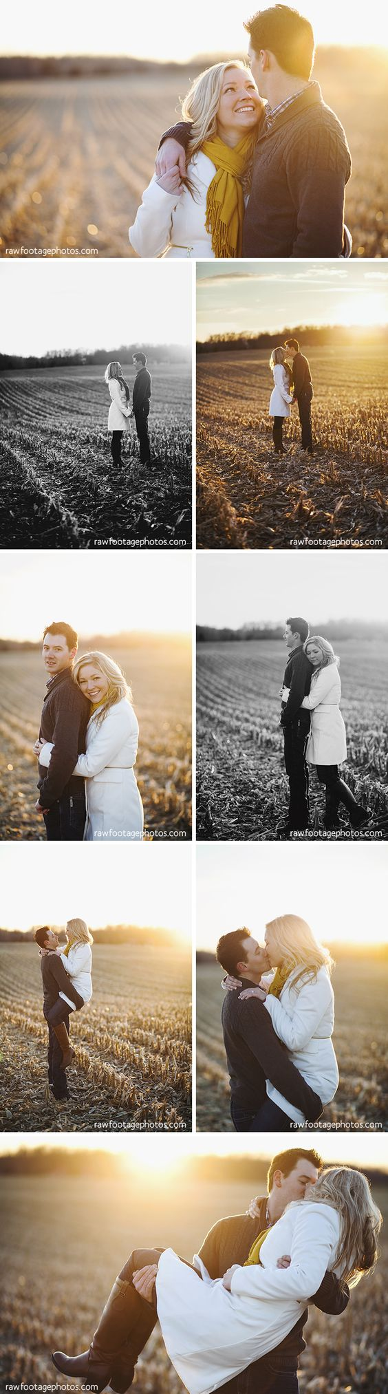Raw Footage Photography - London Ontario Lifestyle Family and Wedding Photographer - Country Sunset Engagement Session