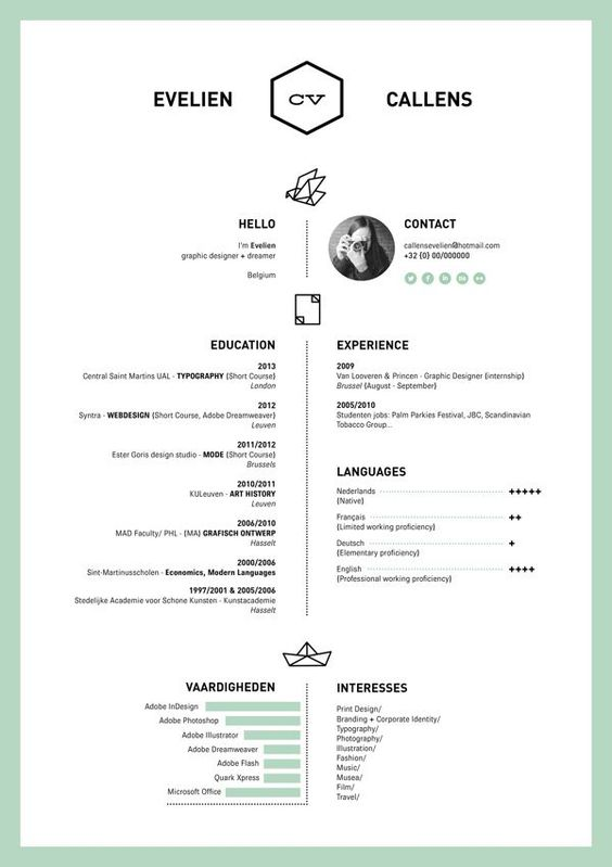 1000+ images about Resume Ideas on Pinterest Behance, Layout cv - one page resume