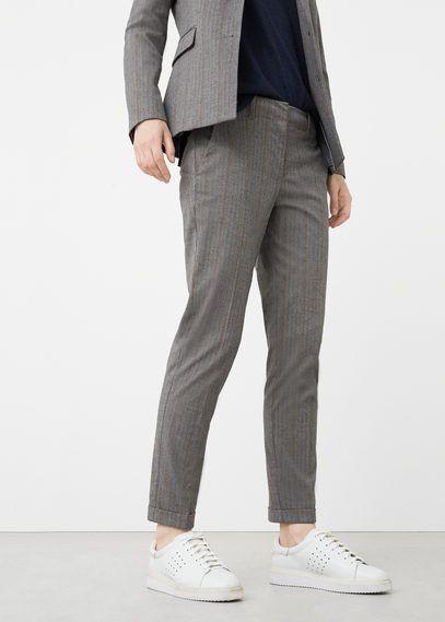 Pantalon de costume à rayures