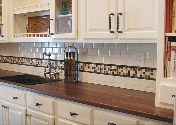 Distressed black walnut countertop for the home pinterest butcher blocks home and colors - Home depot butcher block wood ...