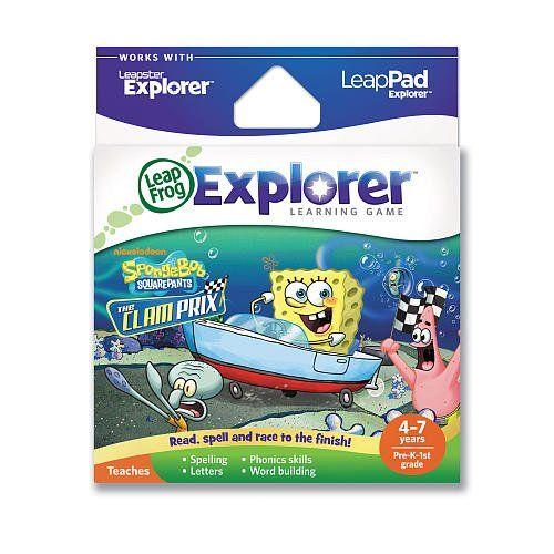 LeapFrog Explorer Learning Game SpongeBob SquarePants: The Clam Prix @ niftywarehouse.com #NiftyWarehouse #Spongebob #SpongebobSquarepants #Cartoon #TV #Show