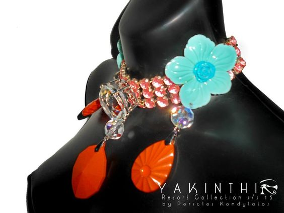 """""""Yakinthi"""" collection by Pericles Kondylatos Available at Vassilis Zoulias Boutique & Attelier (Ακαδημίας 4, Αθήνα -Boutique: 210.3389.924   Atelier : 210.7225613) The """"Yakinthi"""" collection taken from """"YAKINTHI"""" Fashion Show - Resort s/s 15 took place on FRIDAY 24th OCT. @ Ethniki Asfalistiki Center, Athens Greece"""