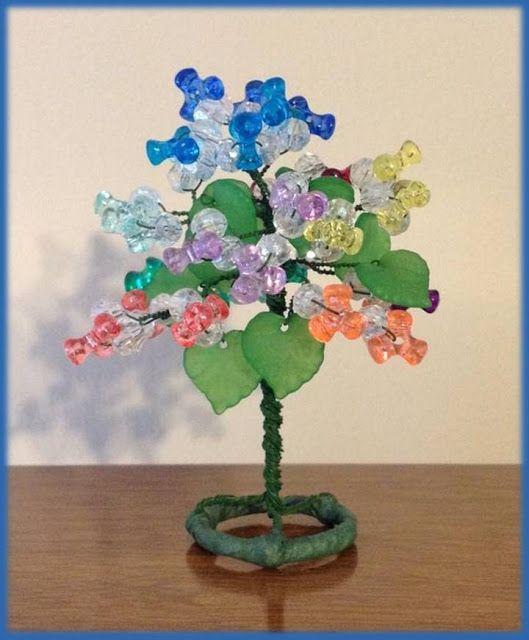 Rosa Enid Cruz Roque: Wire Miniature Trees 008 - Collectibles