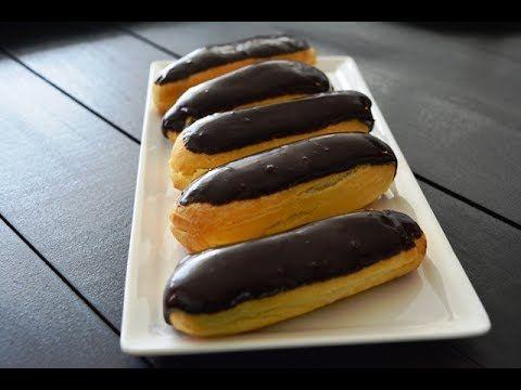 طريقة عمل الاكلير عجينة الشو بطريقة سهلة من دون خفاقة Yummy Food Youtube Desserts Food Hot Dog Buns