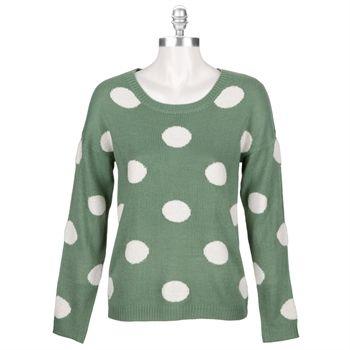 Love By Design Juniors Terry Polka Dot Sweater #VonMaur