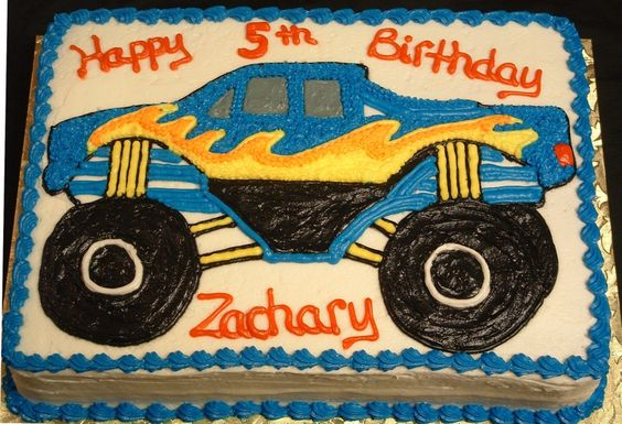 Monster Truck Cake Birthday Party Pinterest My Boys
