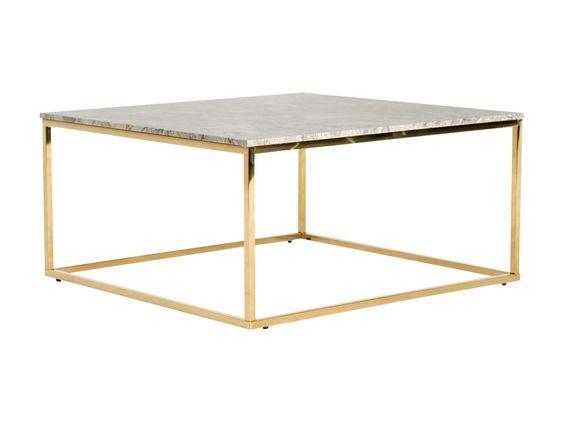CARRIE Soffbord 90 Mässing/Beige Furniturebox (100-78-94270 ...