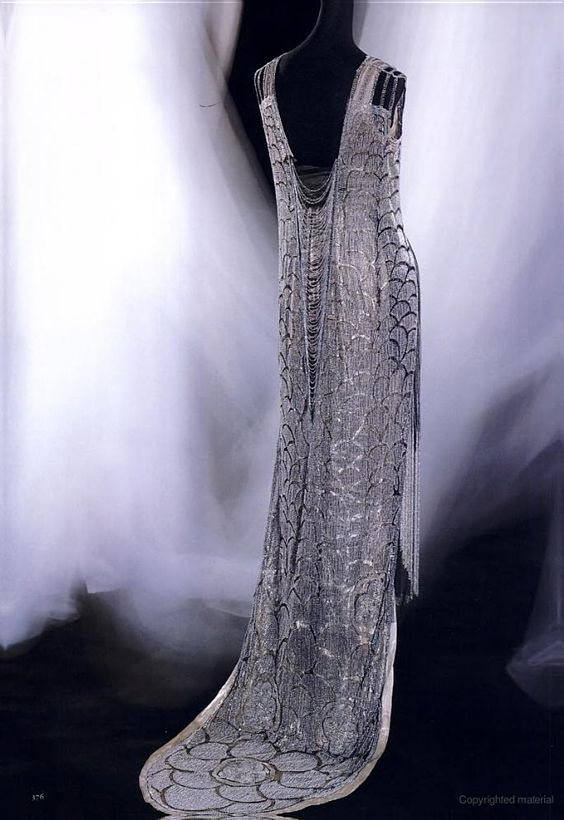 may 2, 2012.  Evening dress by Gustave Beer, 1919.  In Kyoto Costume Institute collection.