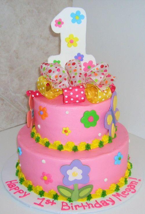 Funny Cakes For 1st Girls Birthday Flower Decoration Birthday