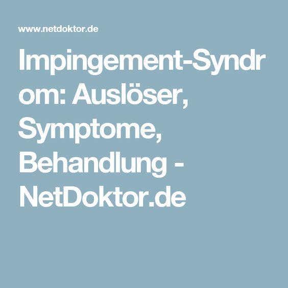 Impingement-Syndrom: Auslöser, Symptome, Behandlung - NetDoktor.de
