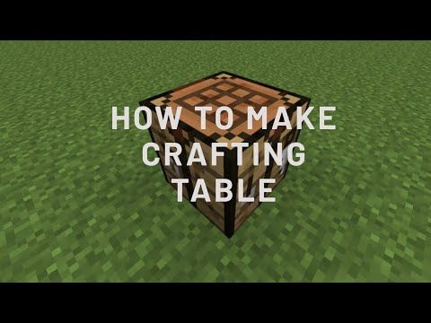 How To Make Crafting Table In Minecraft How To Make Crafting Table In Hindi Youtube Craft Table Crafts How To Make