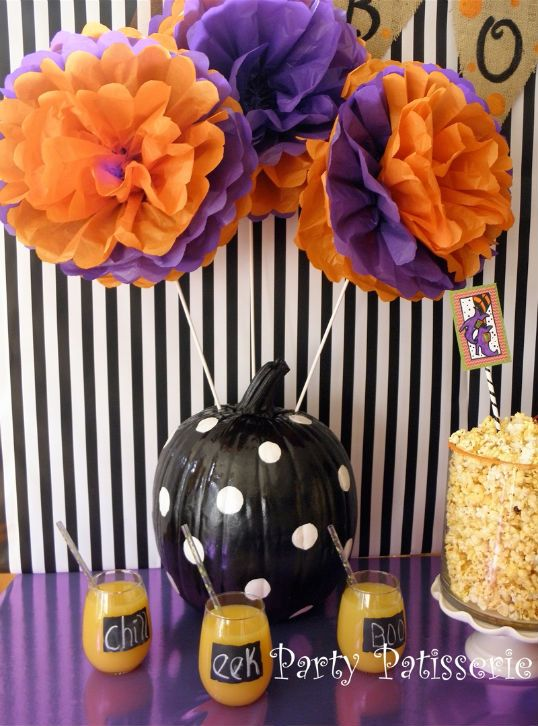 it looks like a Halloween craft but I see a Clemson Party idea!