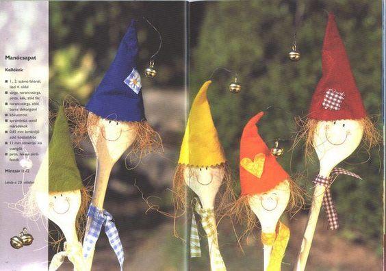 fakanálbábok2 - Eszter Toth - Picasa Webalbumok, wooden spoon puppet
