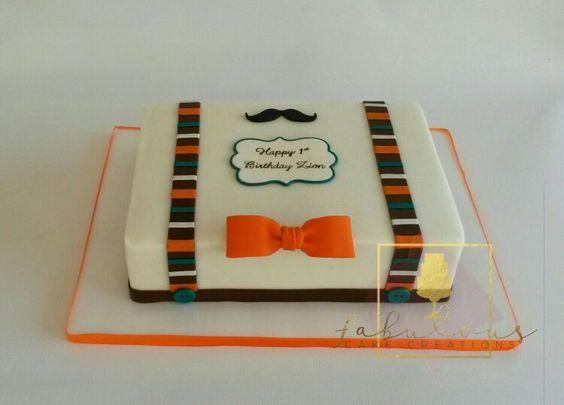 1st birthday mustache