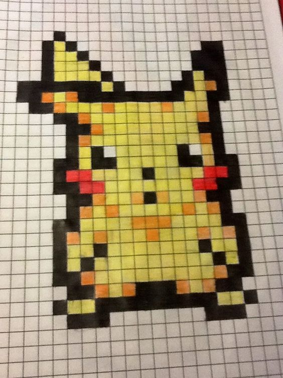 Pikachu - Pixel Art by BakaGamerGirl | pixel | Pinterest ...