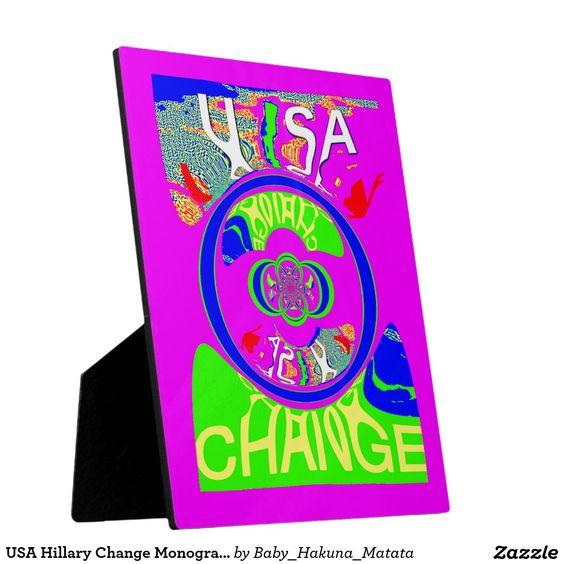 USA Hillary Change Monogram  Art design #Art #design #Beautiful #amazing #change #products