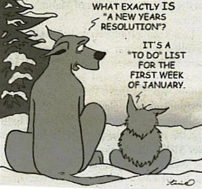 What exactly is a New Year's resolution? It's a to-do list for the first week of January.
