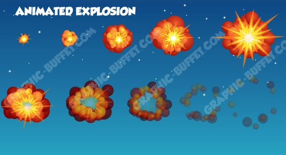 Simple cartoon style explosion for your indie game ...