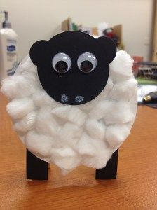 Sheep Craft, l love this! Click through to see how he's standing up!