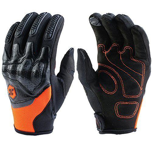 Motorcycle Motorbike Motocross Racing Riding ATV Full Finger Carbon Fiber Gloves