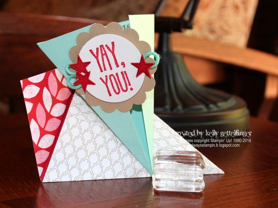 Always Stampin': Triangle Gate Fold Card