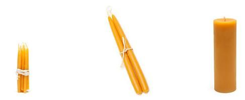 Beeswax candles on sale at Steven Alan