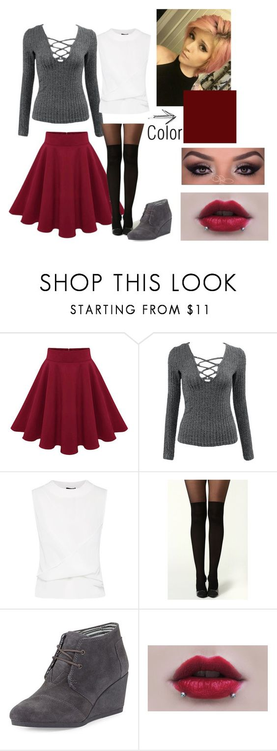 """Jamie"" by tabookitty10 ❤ liked on Polyvore featuring mode, TOMS et modern"