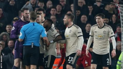 De Gea Was Booked For His Protests After Referee Craig Pawson Allowed Roberto Firmino S Effortmanchester Manchester United Manchester United Players Man United