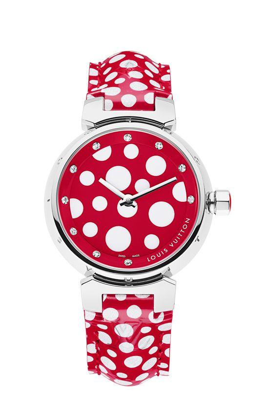 Montre Tambour Dots Infinity - Louis Vuitton et Yayoi Kusama.