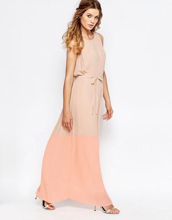 Image 4 ofVila Tie Waist Ombre Maxi Dress