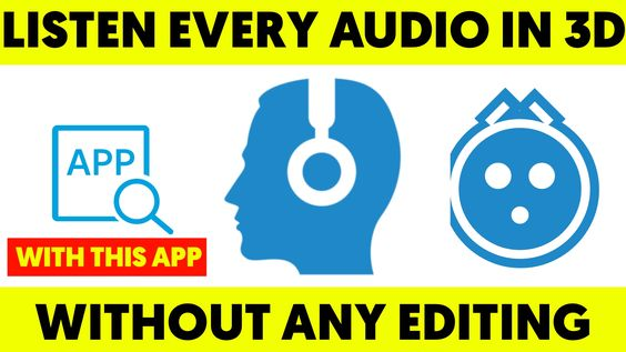 Listen Every Audio In 3D Without Any Editing